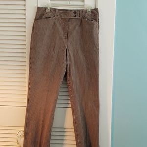 Pin striped slacks